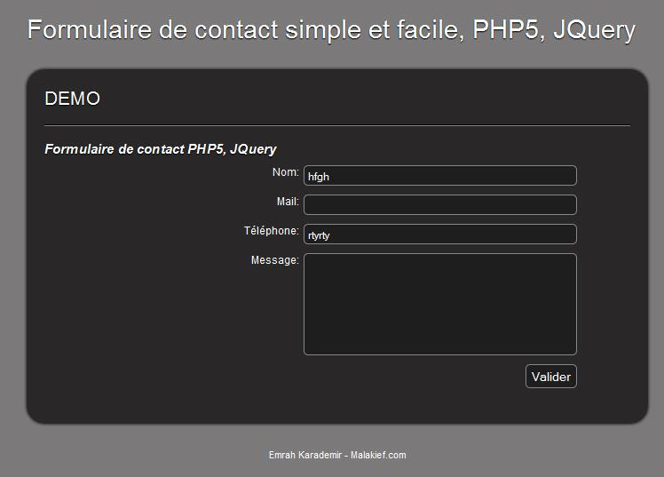 Prestataire internet malakief formulaire de contact - Formulaire de contact ...