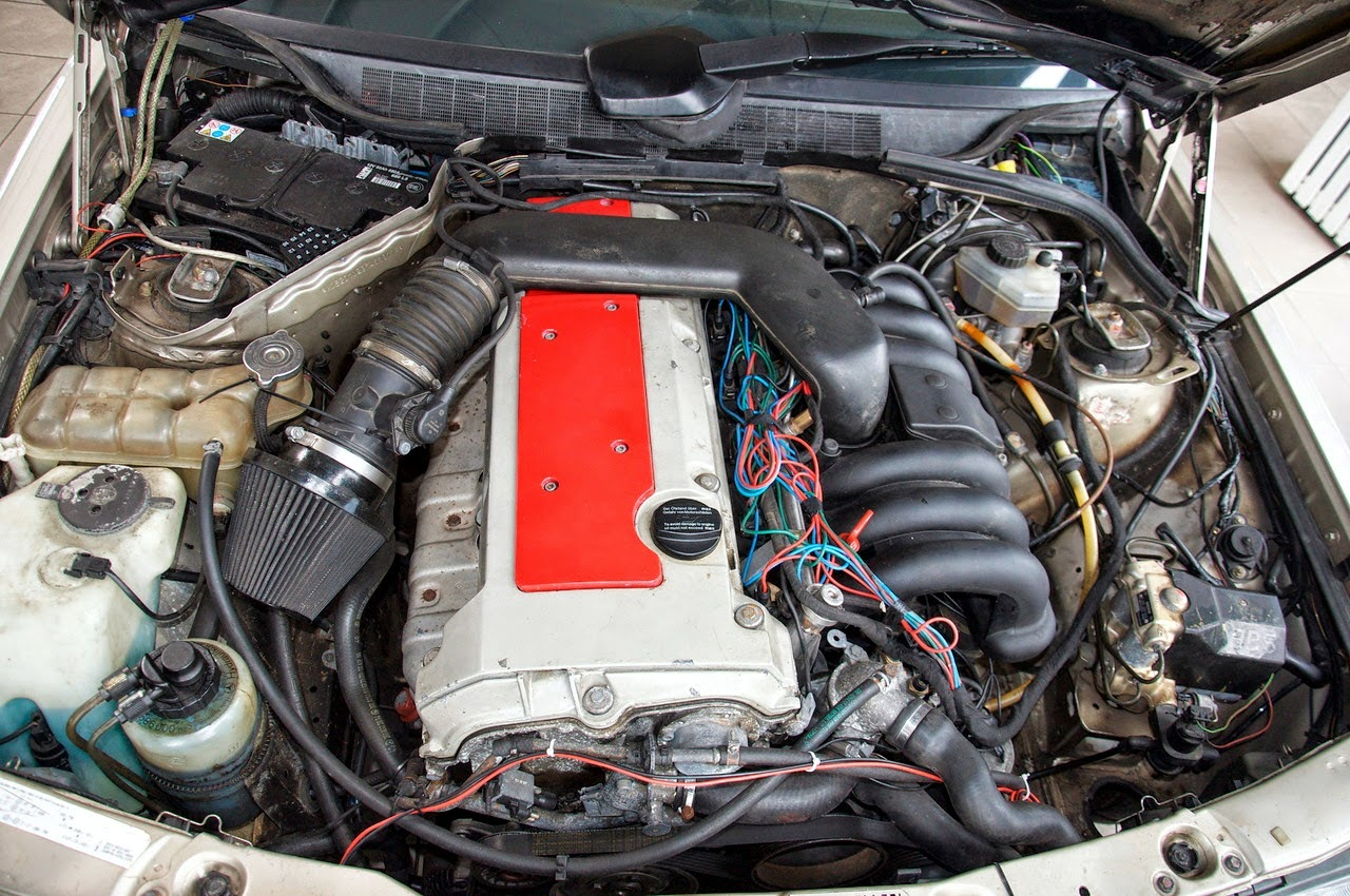 Mercedes 190e with m104 3 2l engine benztuning for Engine for mercedes benz