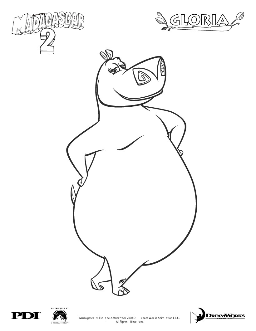 coloring pages of madagascar 2 - photo#30