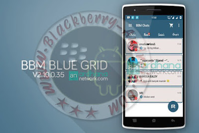 New Ubdate BBM Mod v2.10.0.35 Tema Blue Grid Block Read Status