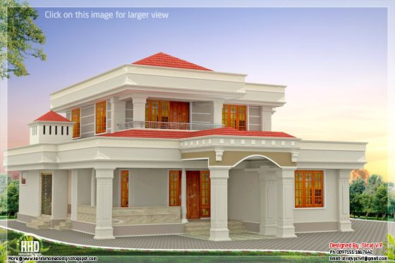 4 bedroom Indian home design