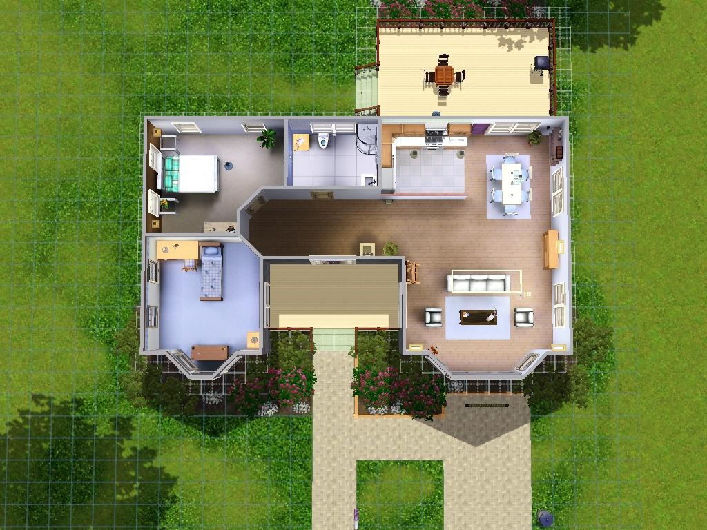 En una nube sims 3 redise ando una casa for Sims 4 piani di casa