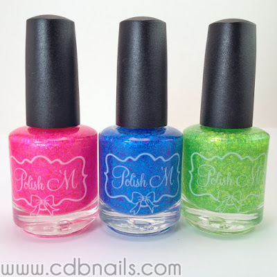 Polish 'M-Neon Glitter Toppers