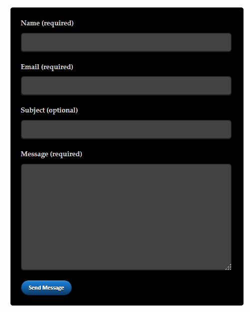 Black contact form for Blogger/websites