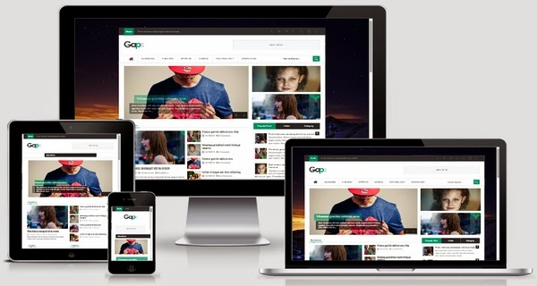 Gaps Responsive Blogger Template Free Download