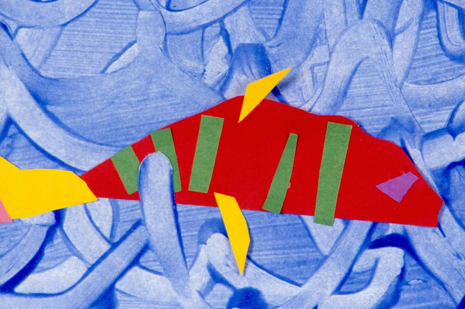 Art for Small Hands: Cut Paper & Printing - Fish Mural
