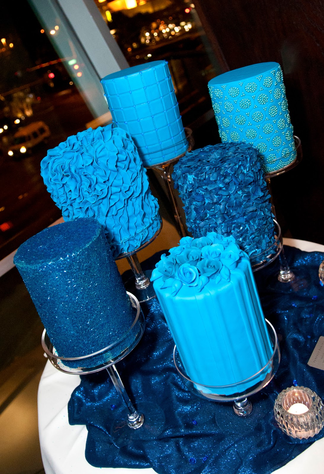 The Unexpected Culinarian Blue Wedding Cake s