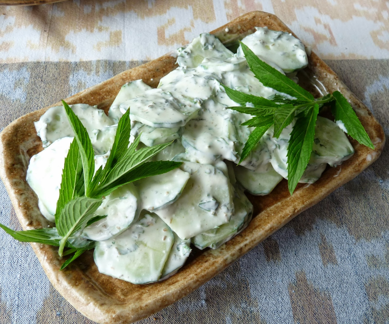 Cucumbers in Crème Fraîche with Mint