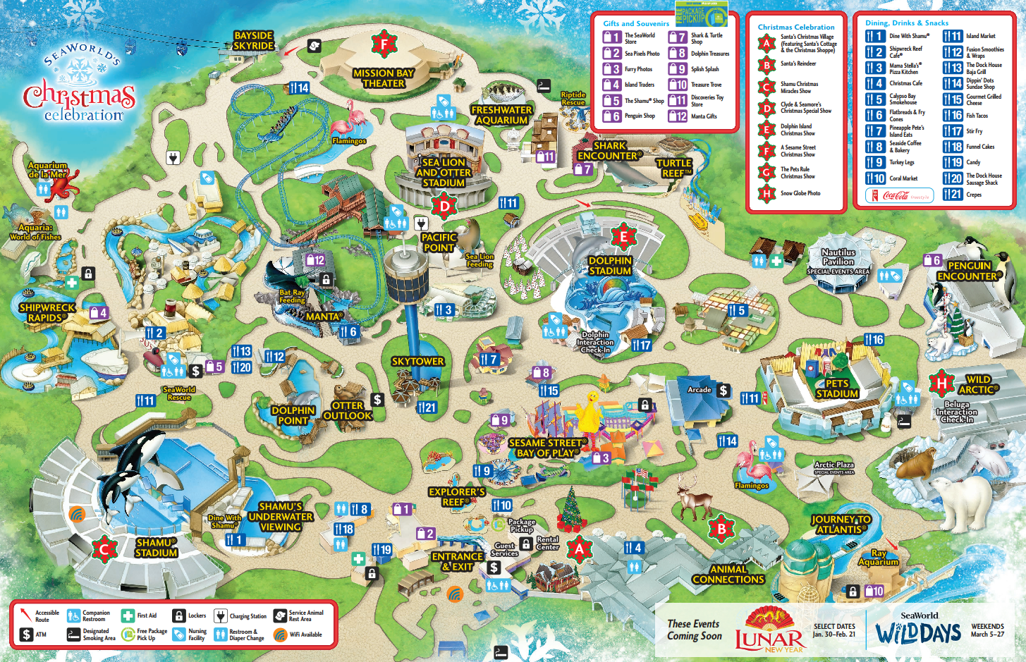 since the show times are fixed and only offered once (maybe twice)throughout the day i would recommend figuring out what shows you want tosee and . seaworld san diego guide