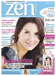 Margarida Fernandes na Revista Zen Energy Novembro 2012