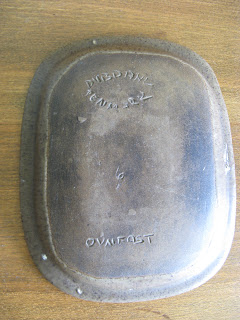 Dybdahl pottery marks on dish
