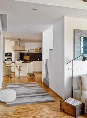 apartamento decorado con suaves colores tierra