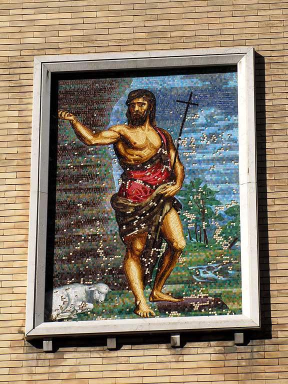 John the Baptist, mosaic, via Tre Novembre, Livorno