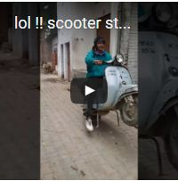 lol !! scooter stunt