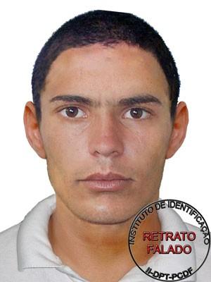 Retrato falado do suspeito de agredir uma aluna de agronomia da UnB na última semana (Foto: Polícia Civil/Reprodução)