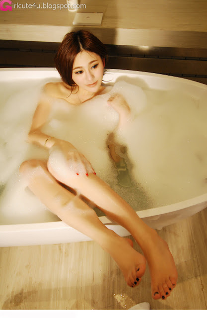 4 Tender the mold Wu Muxi - white bubble bath-very cute asian girl-girlcute4u.blogspot.com