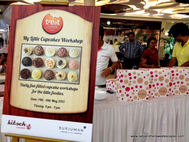 kitsch cupcakes workshop at Burjuman Dubai
