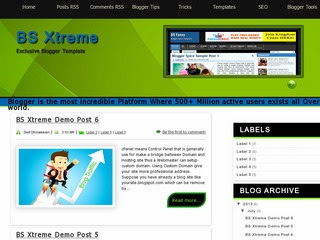 BSXtreme blogger template