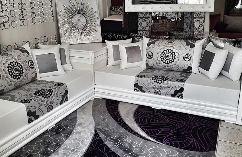 Design : Salon Marocain Blanc Laque Avec Diamants - Calais 11 ...