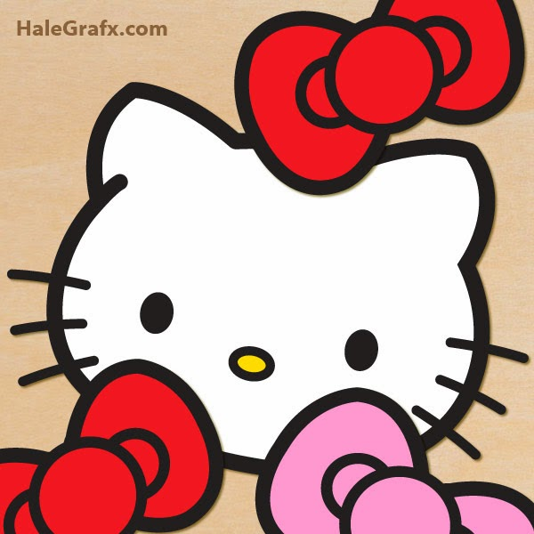 DIY Hello Kitty Free Printable. Pin the Bow.