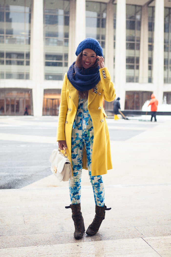 Dressing For The Snowstorm During New York Fashion Week Song Of Style