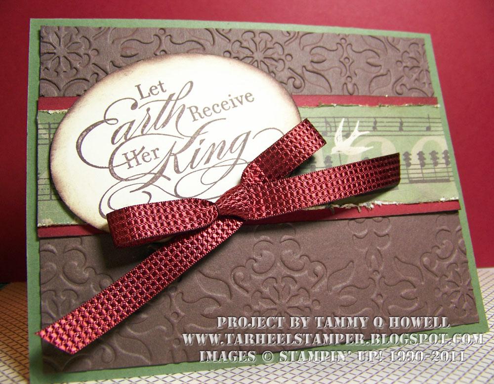 Tarheel Stamper: Tarheel Stamper - Elegant Music Christmas Cards