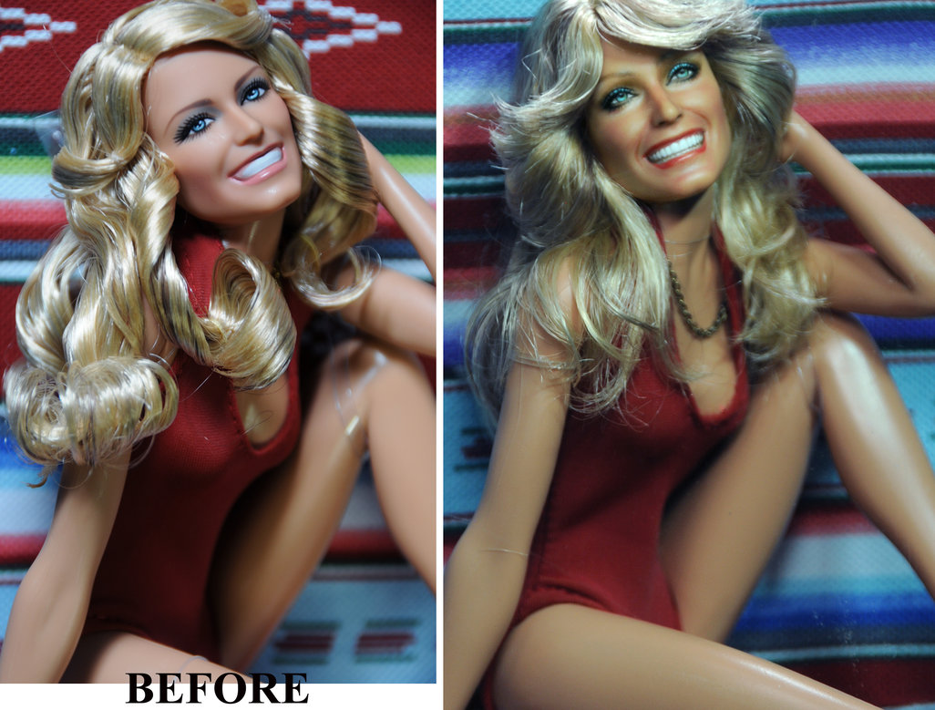 05-Farrah-Fawcett-Charlie-s-Angels-Noel-Cruz-Hyper-Realistic-Make-up-on-small-Dolls-www-designstack-co