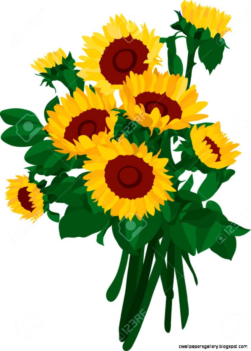 Sunflower Bouquet Free Clipart