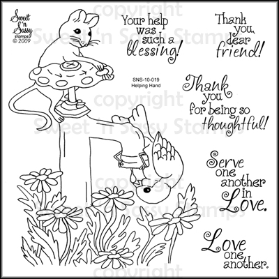 Golden inkspirations july 2011 for Helping hands coloring page