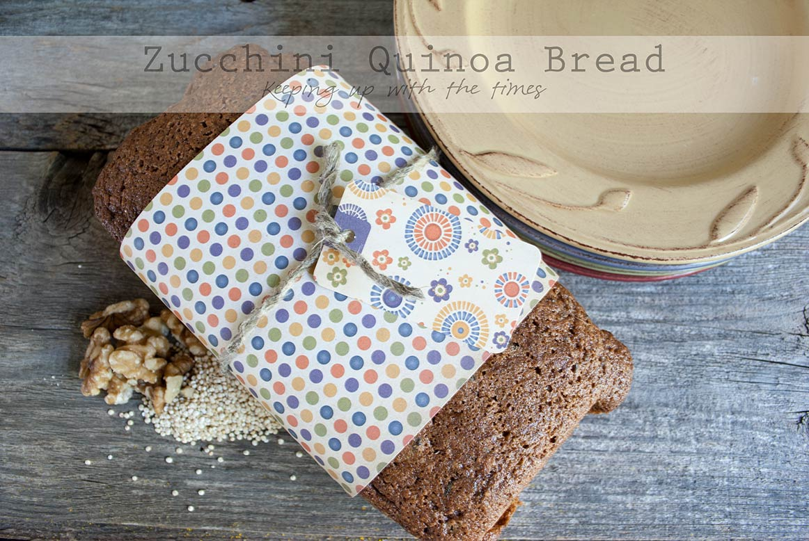 Rustic Zucchini Quinoa Bread - Keeping With The Times
