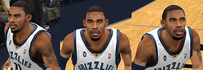 NBA 2K13 Mike Conley Cyberface Patch