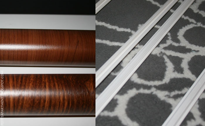 faux wood grain contact paper and plastic rails