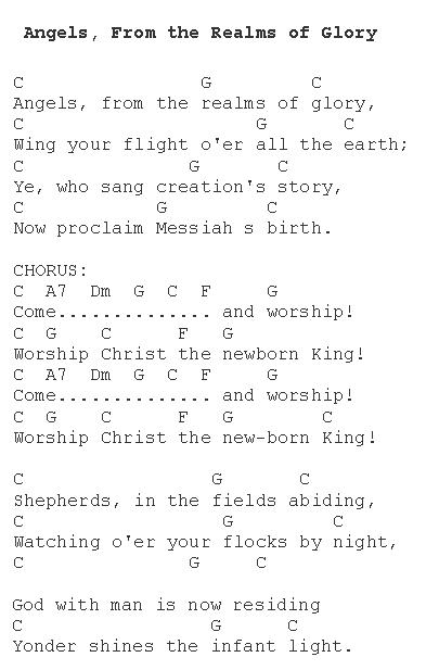 Angels From The Realms Of Glory Christmas Carols Lyrics And History