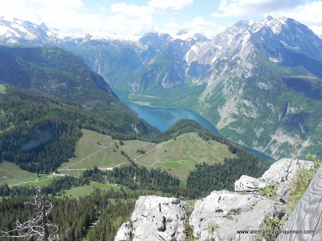 O lago Königssee visto do alto do Jenner