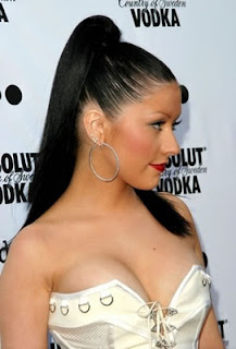 Christina Aguilera black hairstyle trends for Women