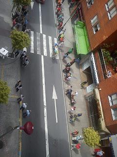 Paso de los deportistas por Sanjurjo Badía, Vigo