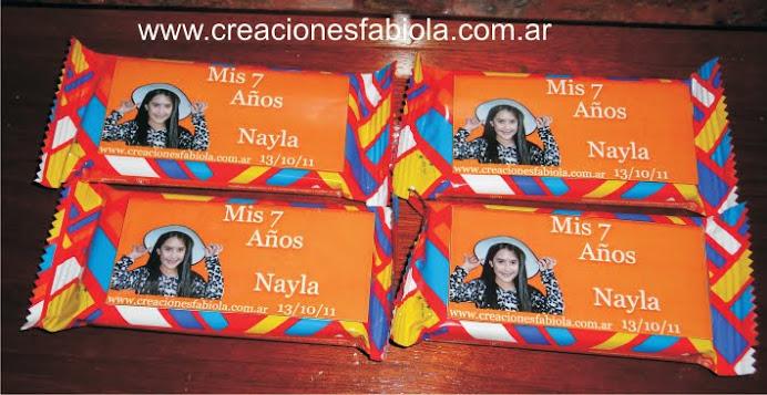 Obleas de Chocolate personalizadad