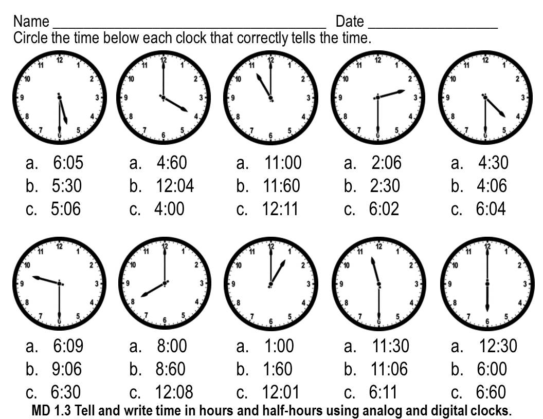 worksheet Telling Time To The Hour Worksheet telling time to the hour and half worksheets abitlikethis common core standards addressed with this pack