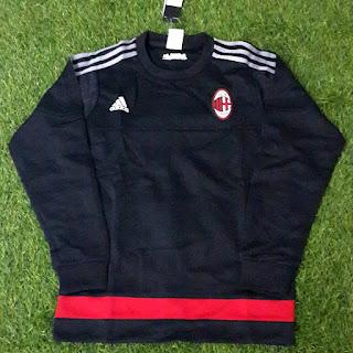 Sweater Ac Milan adidas hitam terbaru musim 2015/2016