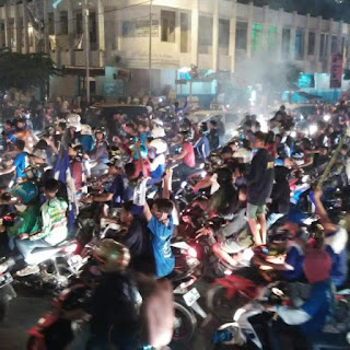 Suasana Bobotoh di Kota Tasik Malaya