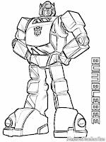 Mewarnai BumbleBee Robot Transformer