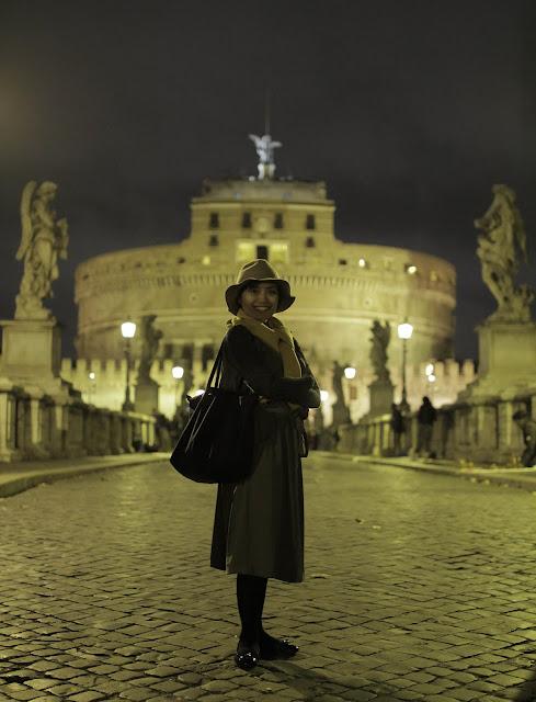 the Closet Catwalk, Castel Sant'Angelo, Europe, Rome, Italy, Honeymoon, Rome at night