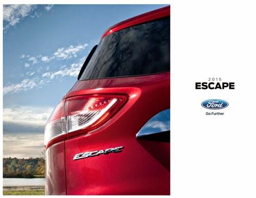 2015 Ford Escape Brochure Cover
