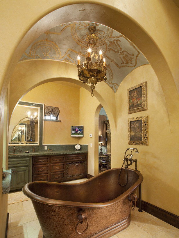 Home design interior tuscan master bathroom ideas for Bathroom fashion