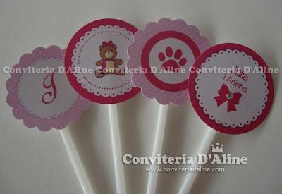 decoração festa ursinha rosa
