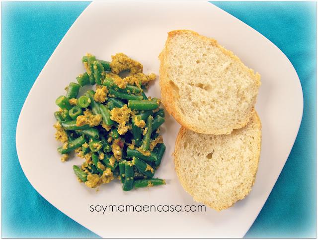 receta de frijolitos verdes con huevo