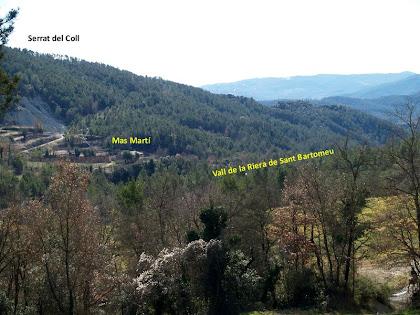 Panoràmica de la vall de la riera de Sant Bartomeu