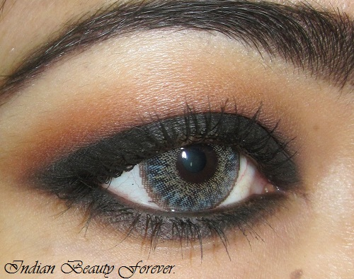 Smokey Black eye makeup Tutorial with steps