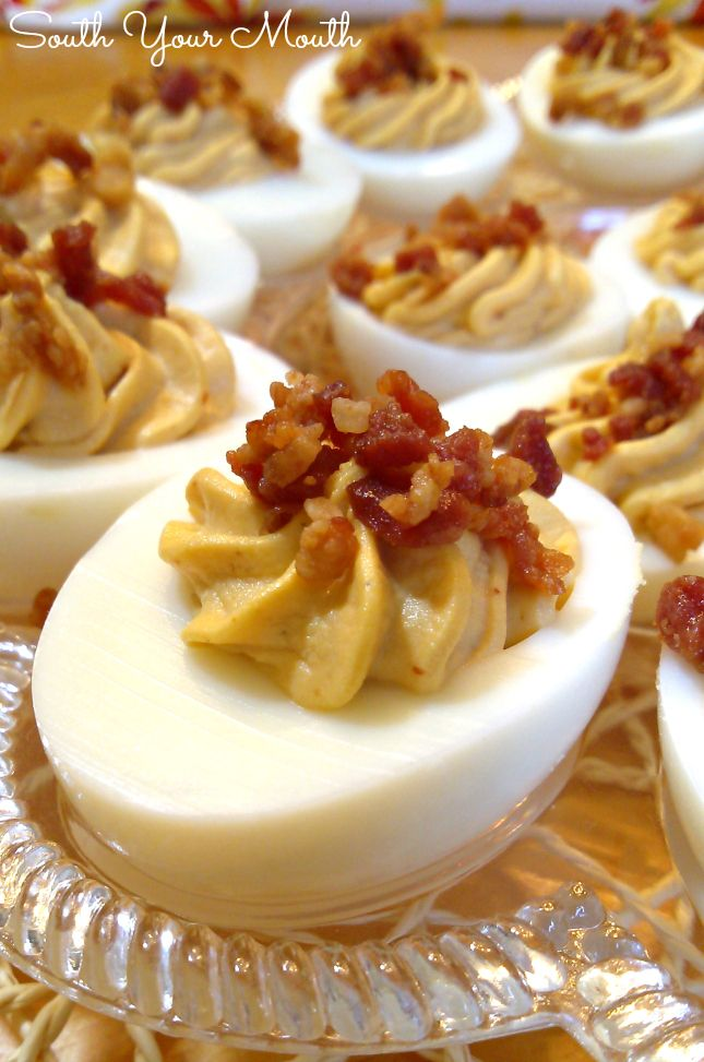 sriracha bacon deviled eggs 12 boiled eggs peeled 1 2 cup mayonnaise 2 ...