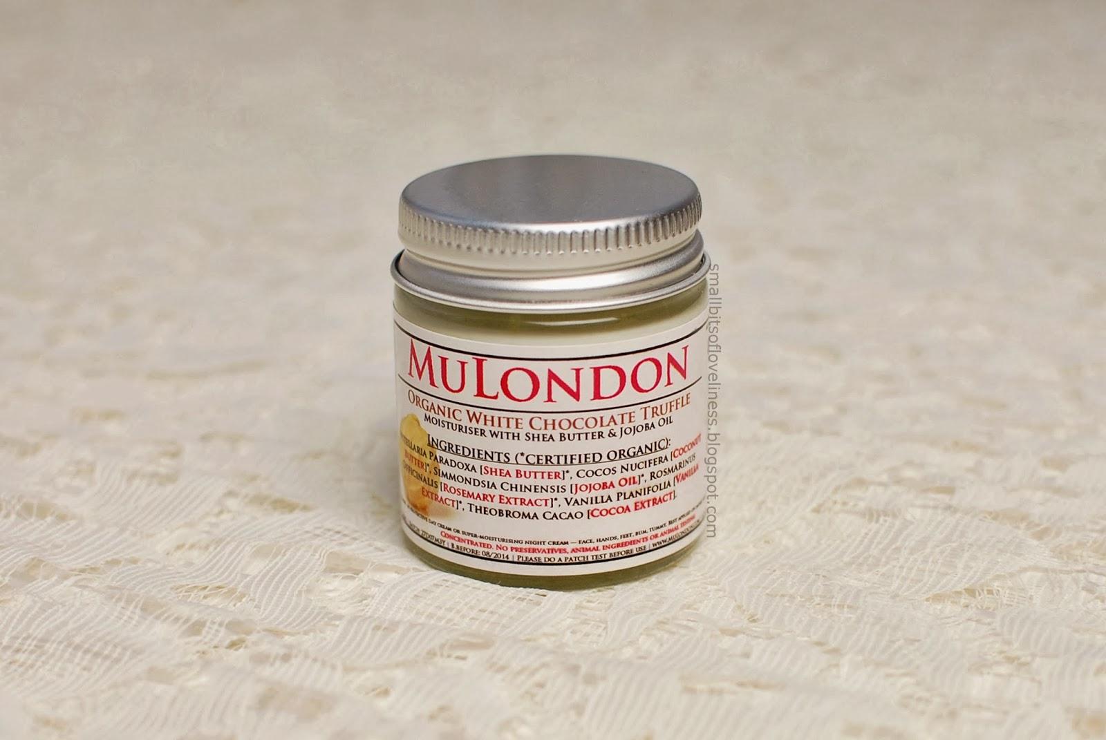 MuLondon Organic White Chocolate Truffle Moisturiser